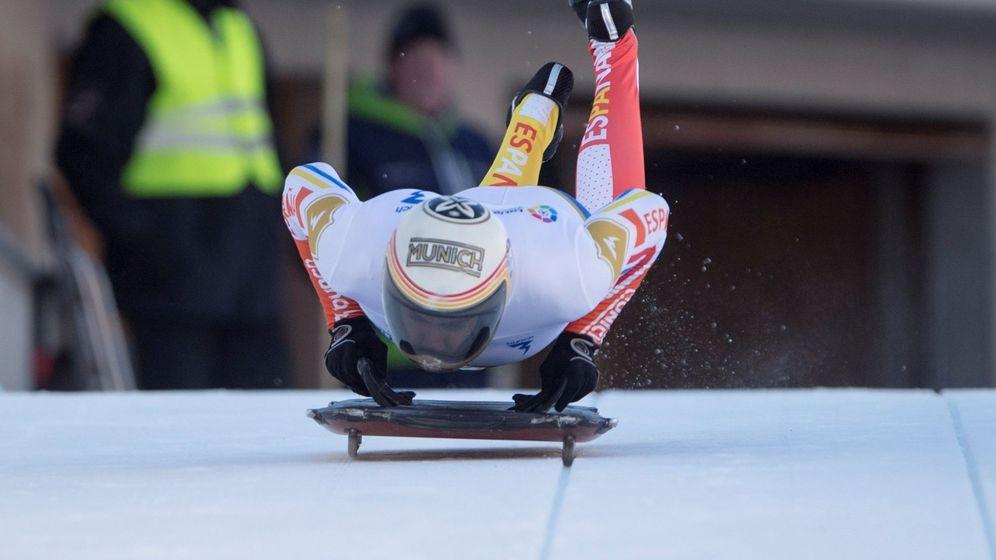 Foto: Ander Mirambell, durante la prueba de la Copa del Mundo en Saint Moritz de hace un año. (EFE)