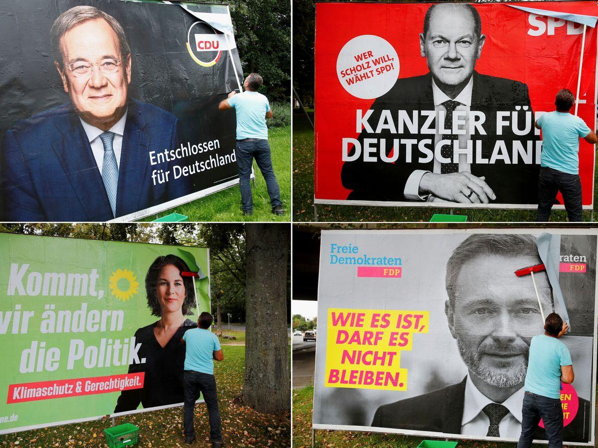 Foto: Cartel electoral en Alemania. (Reuters)