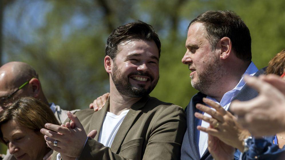 Foto: Oriol Junqueras y Gabriel Rufián. (EFE)