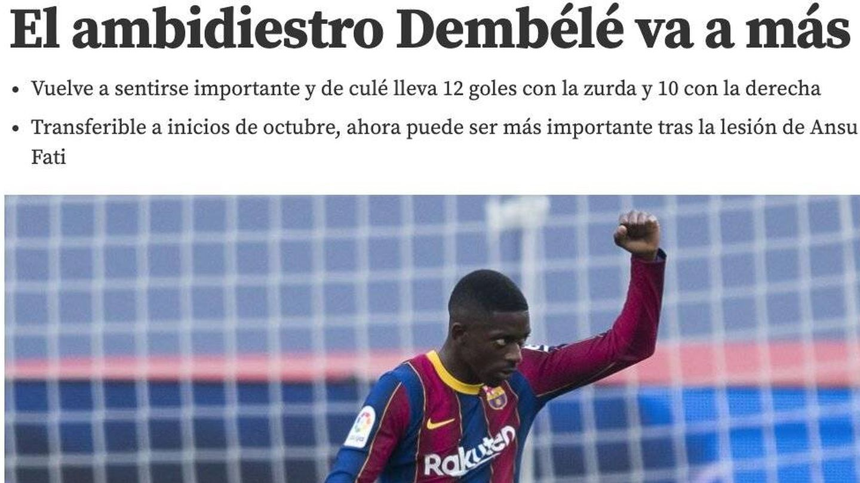 Noticia de Mundo Deportivo de esta semana.
