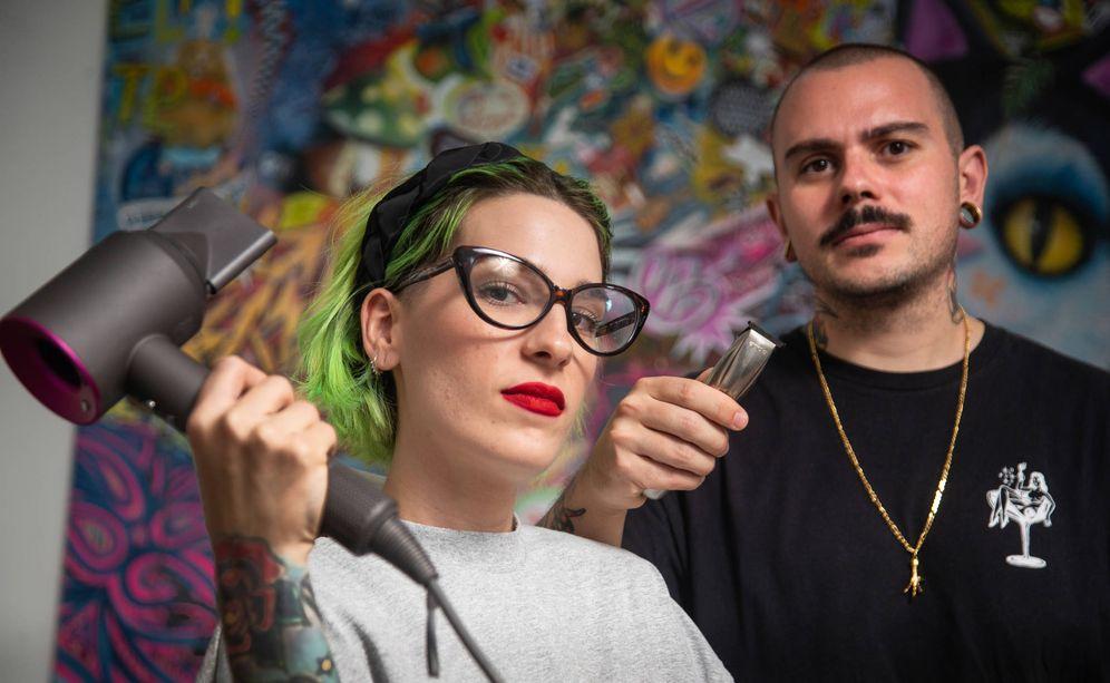 Foto: Gloria y Enriquen sitúan a su clientela en el centro izquierda. (Fernando Ruso)