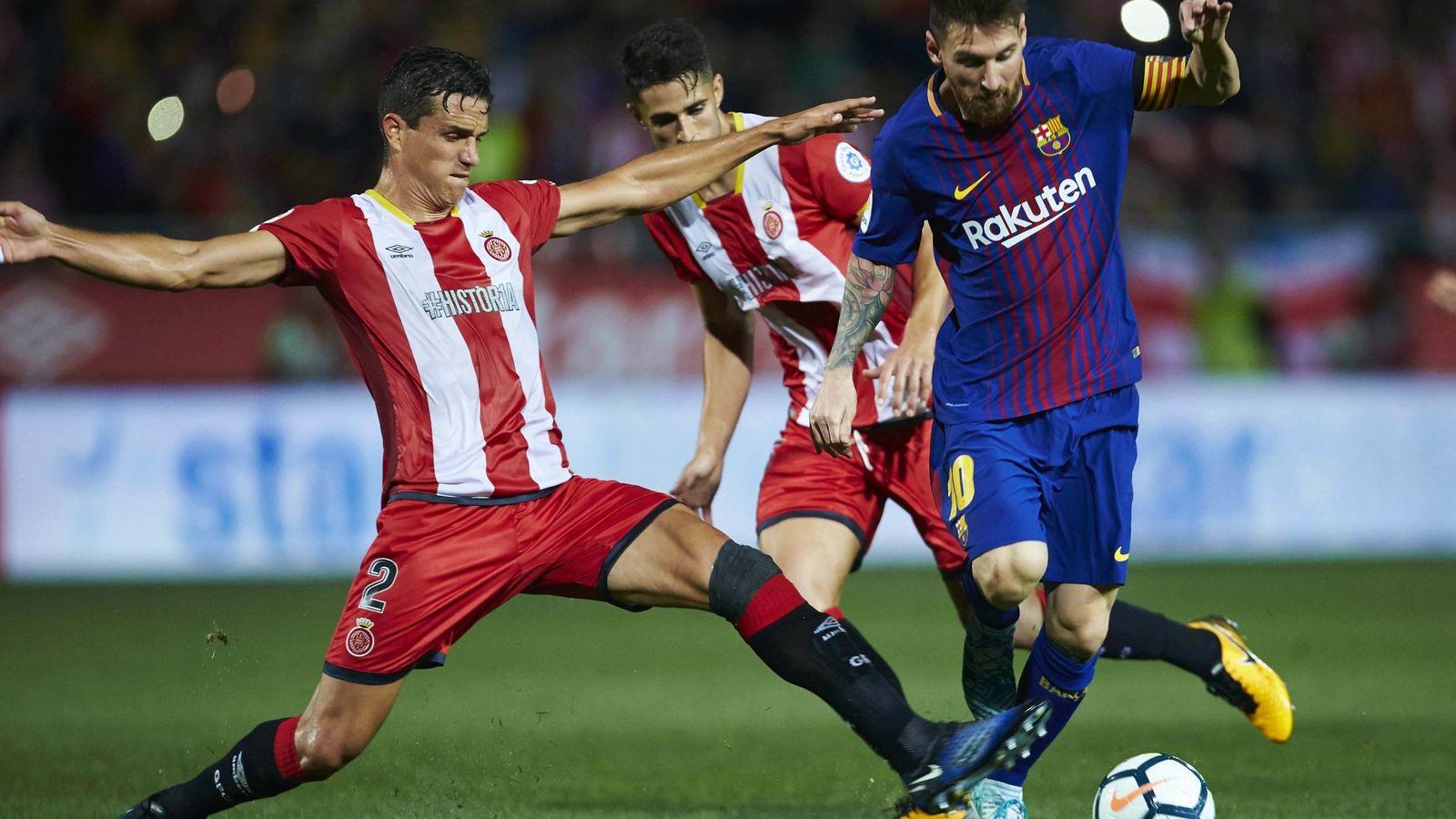 Foto: Messi frente al Girona en Montilivi en la temporada pasada. (EFE)