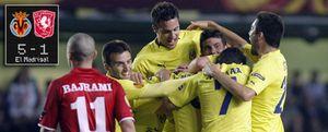El Villarreal pone pie y medio en las semifinales con una exhibición ante el Twente