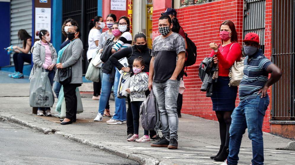 Foto: Crisis en Brasil por el covid-19. (EFE)