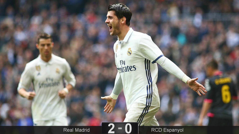 Foto: Morata anotó el 1-0 a pase de Isco (Cordon Press).