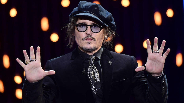 Depp, recogiendo su Premio Donostia. (Limited Pictures)