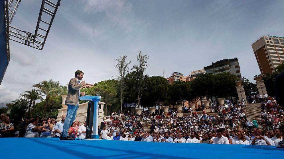 Foto: Pablo Casado, en un mitin. (EFE)