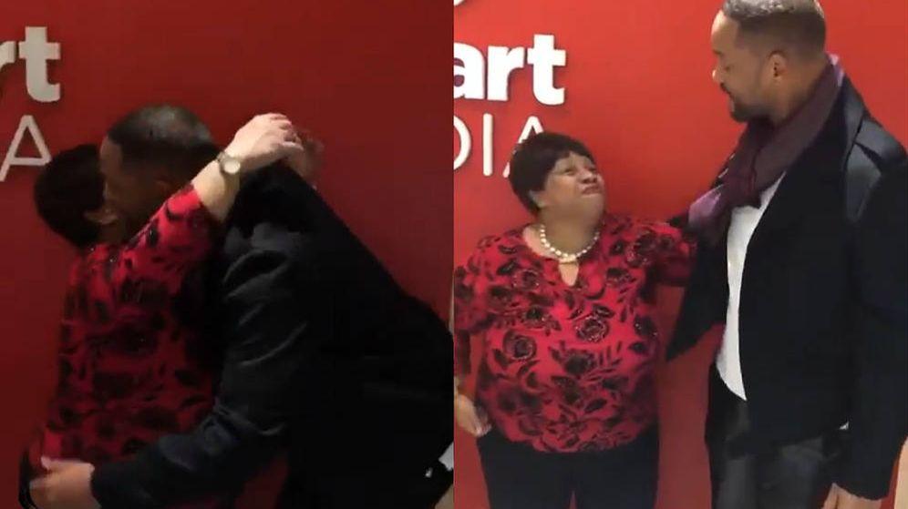 Foto: Anita Scipio y Will Smith se abrazaron y hablaron como dos buenos amigos (Foto: Instagram)