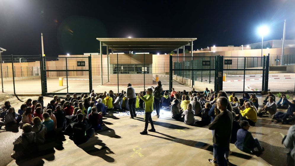 Foto: Protestas en Lledoners. (Reuters)