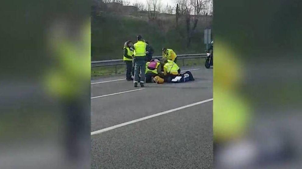 El taxista atropellado por un VTC, en coma inducido por hematoma cerebral