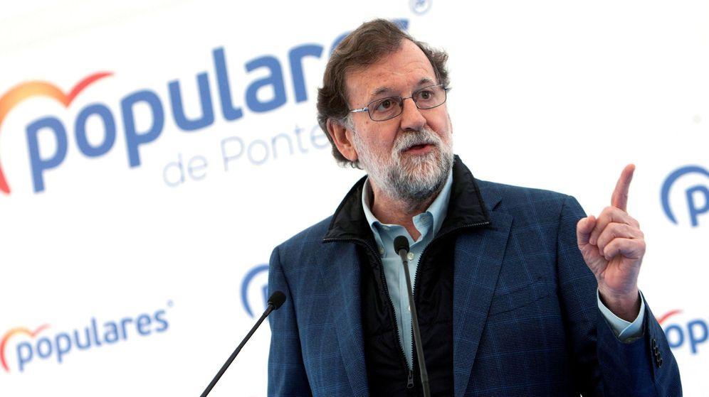 Foto: Mariano Rajoy durante un mítin en Mos, Pontevedra (Efe)