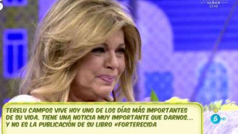 Terelu Campos, emocionada en 'Sálvame'.