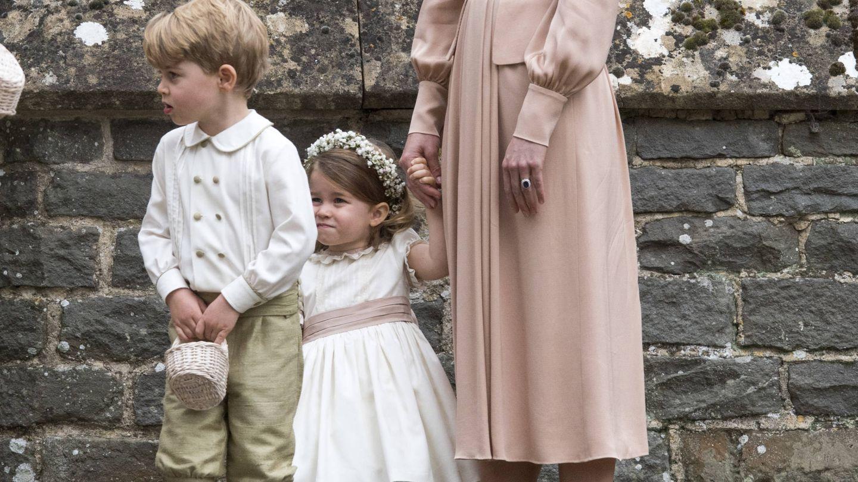 George y Charlotte en la boda de Pippa Middleton. (Getty Images)