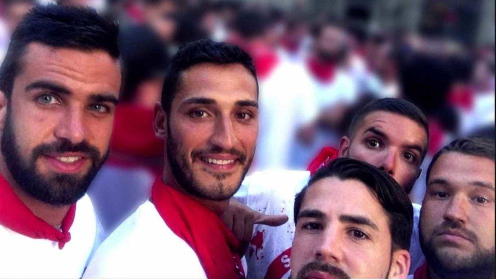 Foto: Los cinco miembros de La Manada.