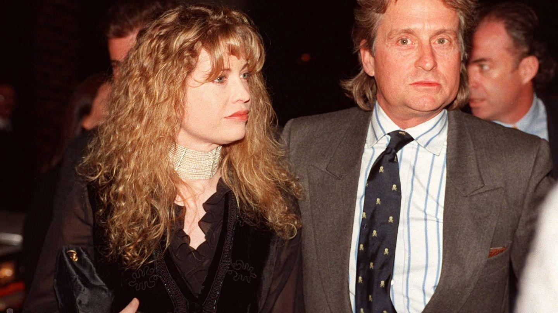 Diandra y Michael Douglas, en los años 90. (Gtres)
