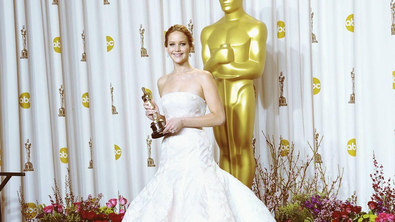 Jennifer, con su Oscar. (Getty)