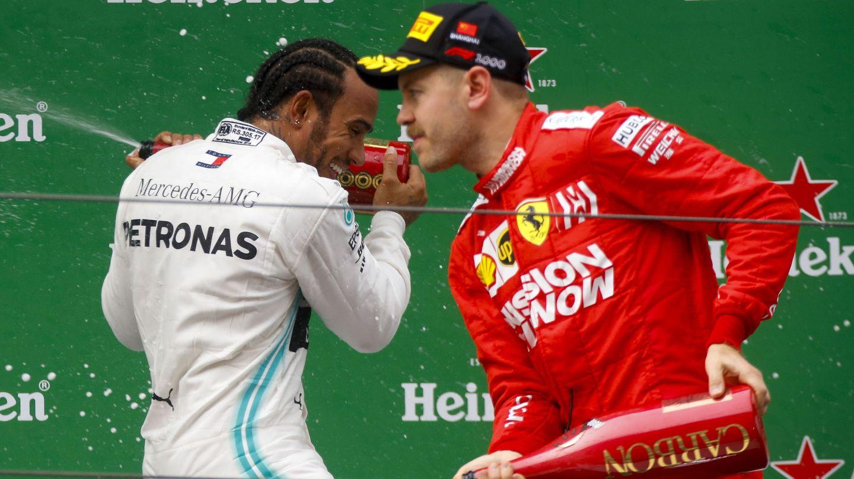 Vettel sufrió por primera vez al podio esta temporada. (Reuters)