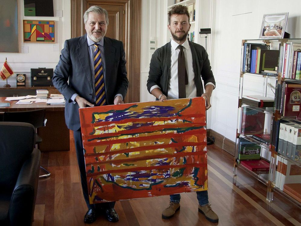 Foto: Méndez de Vigo junto a Rosales en el Ministerio