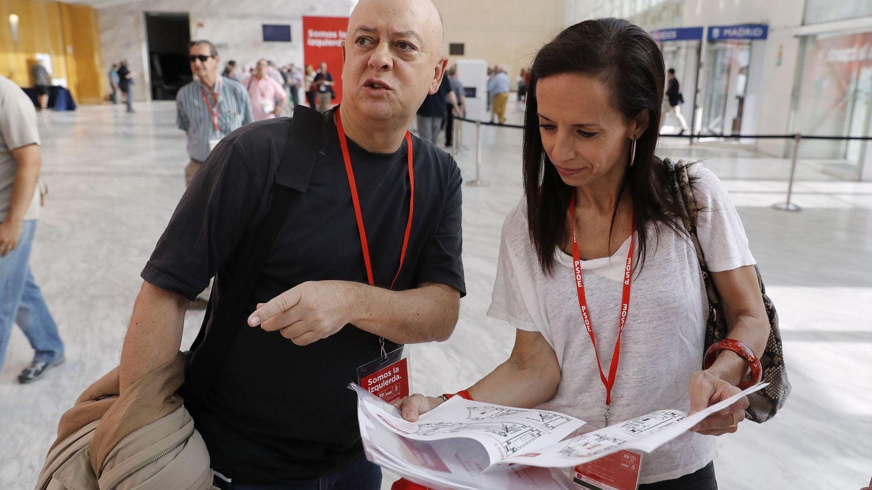 Beatriz Corredor y Odón Elorza, el pasado 17 de junio, en el 39º Congreso del PSOE. (EFE)