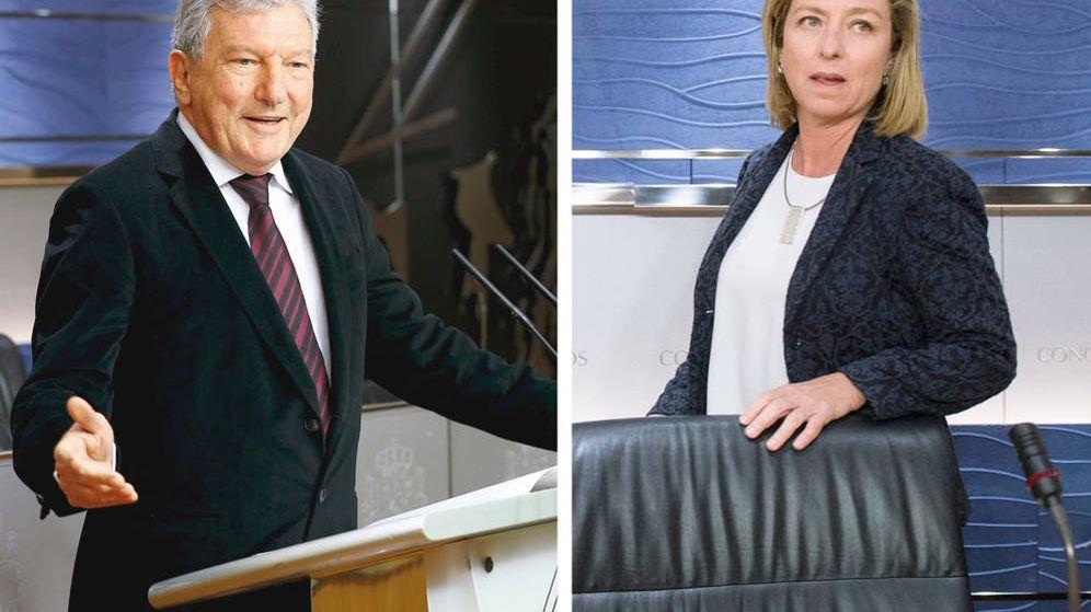 Foto: Pedro Quevedo, de Nueva Canarias, y Ana Oramas, de Coalición Canarias, serán clave para que haya Gobierno. (EC)