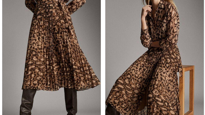 La falda plisada con estampado de leopardo de Massimo Dutti (Cortesía)