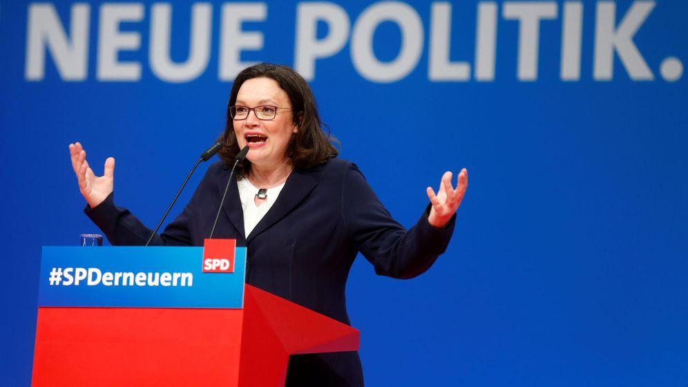 Foto: Andrea Nahles, nueva presidenta de los socialdemócratas alemanes. (Reuters)