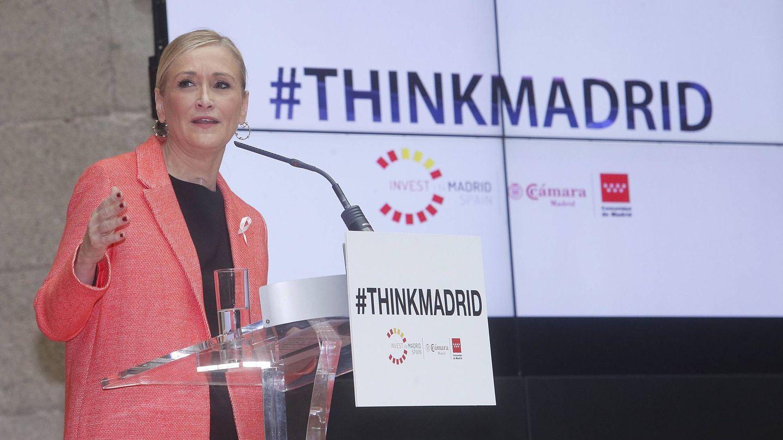La expresidenta Cifuentes cuando presentó la estrategia 'ThinkMadrid'.