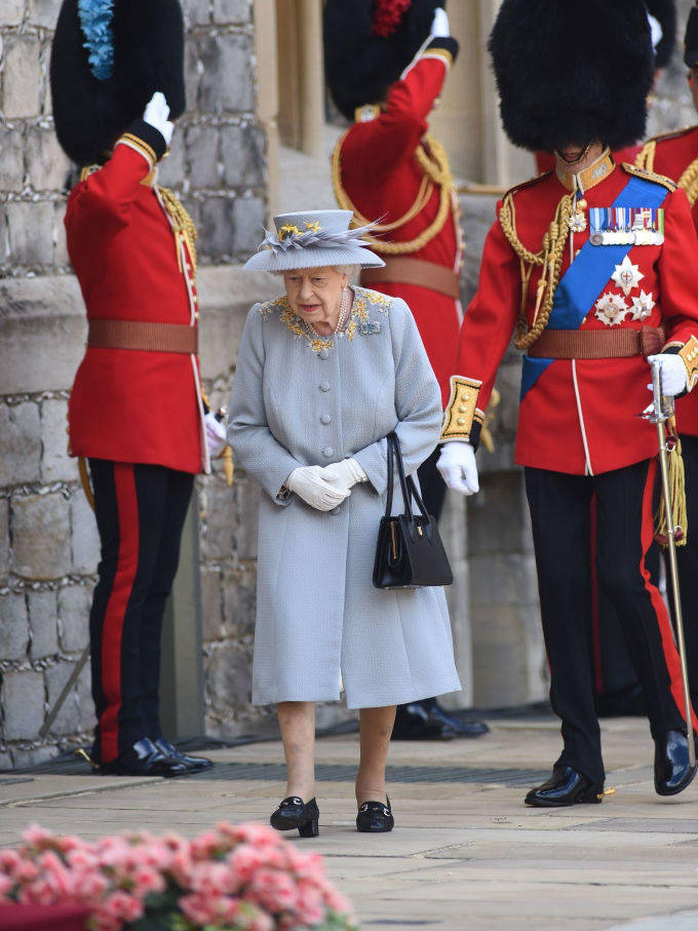 Isabel II en el Trooping The Colour 2021. (Getty)