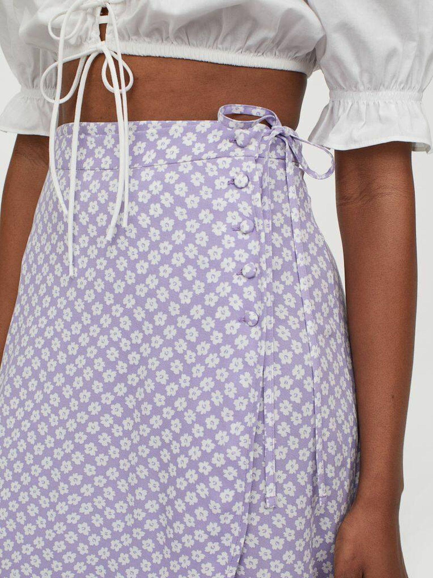 La falda pareo de HyM, asequible y fit. (Cortesía)
