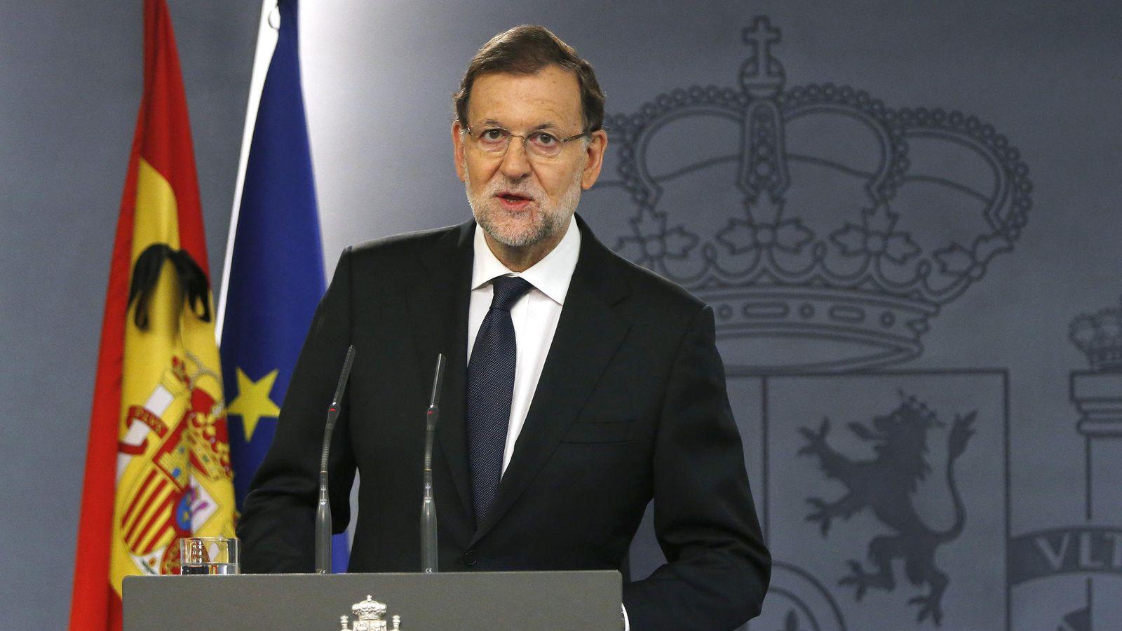 Foto: Rajoy dice que los atentados son una lucha entre civilización y barbarie. (EFE)