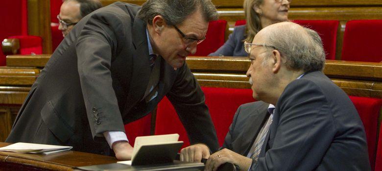 Foto: Artur Mas junto a Andreu Mas-Colell. (EFE)