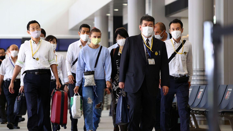 Tsimanouskaya se marcha de Japón. (Reuters)