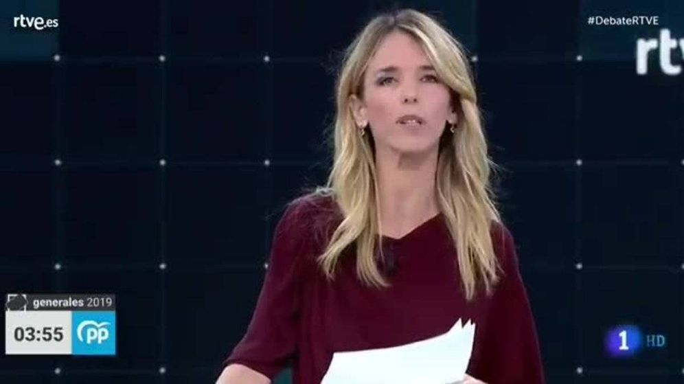 Foto: Cayetana durante el debate en TVE.