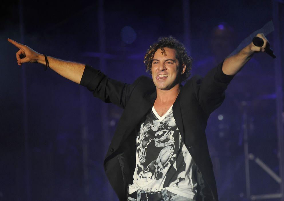 Foto: El cantante, durante una actuación veraniega (I. C)