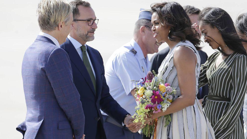 Así fue la llegada de Michelle Obama a Madrid