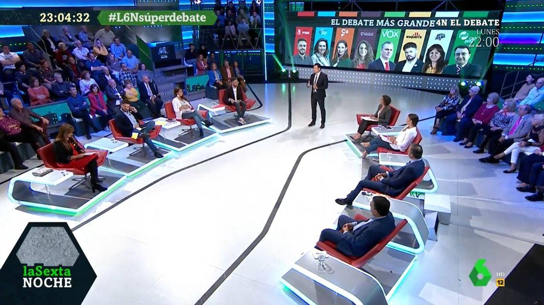 Debate de 8, en 'La Sexta noche'. (Atresmedia)
