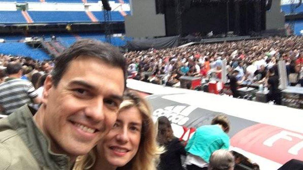 Pedro Sánchez hace un alto en su carrera a La Moncloa en el concierto de Bruce Springsteen