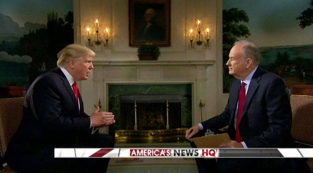 Foto: Captura de pantalla de la entrevista de Donald Trump con Bill O'Reilly. (Fox News)