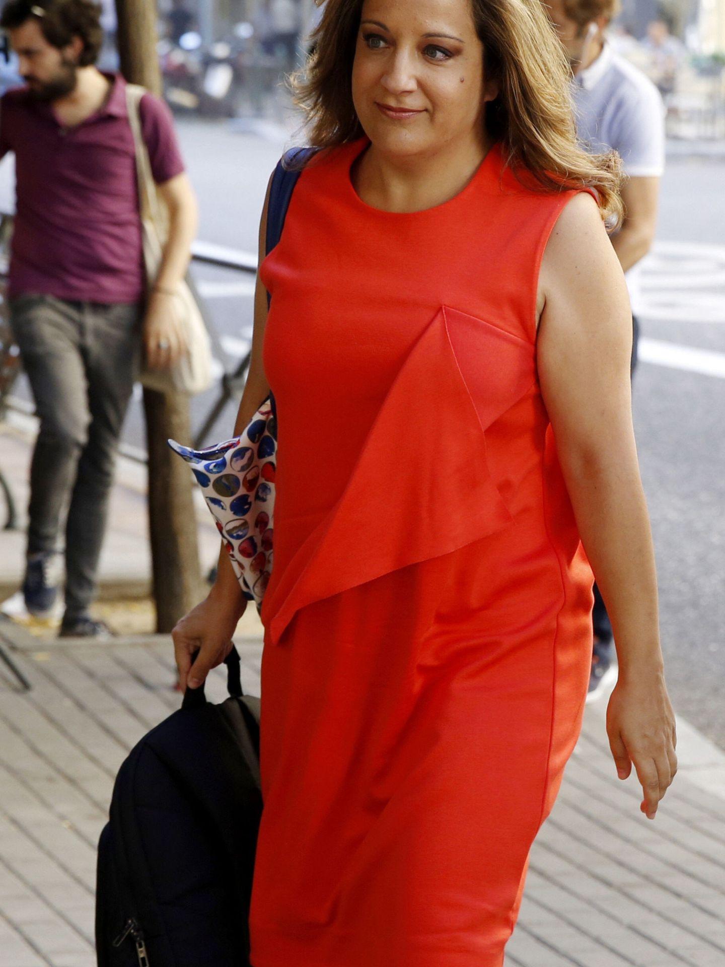La portavoz socialista en el Parlamento Europeo, Iratxe García, el pasado 18 de julio. (EFE)