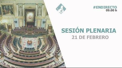 Siga en directo la sesión plenaria en el Congreso de los Diputados