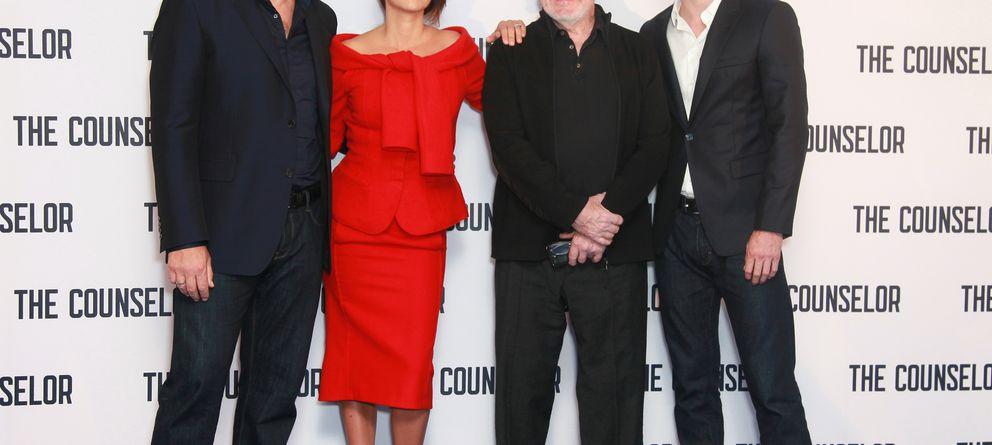 Foto: Javier Bardem, Penélope Cruz y Ridley Scott, en el estreno de 'El consejero' (Gtres)