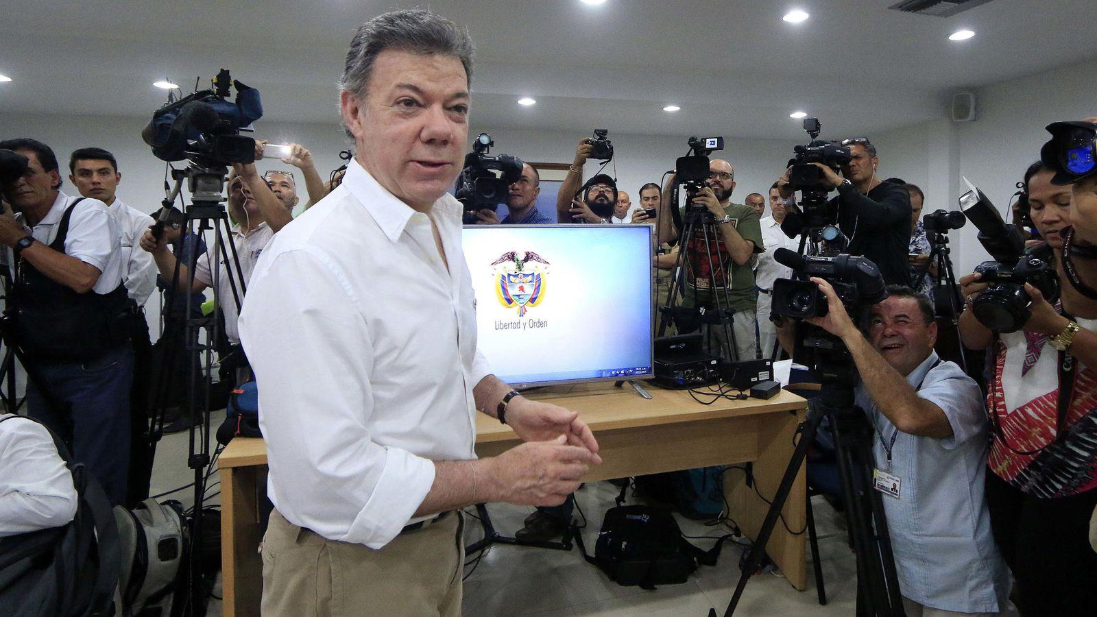 Foto: Juan Manuel Santos, presidente de Colombia, anuncia el descubrimiento del 'San José'. (EFE)