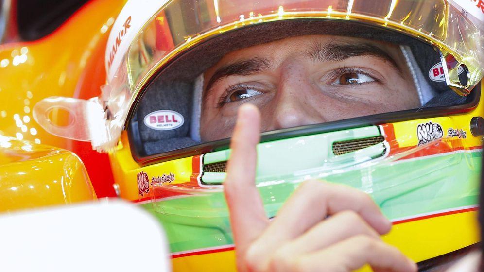 Foto: Roberto Merhi en su monoplaza Manor de la temporada pasada.