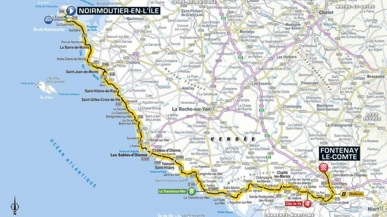 Recorrido de la primera etapa | Tour de Francia 2018
