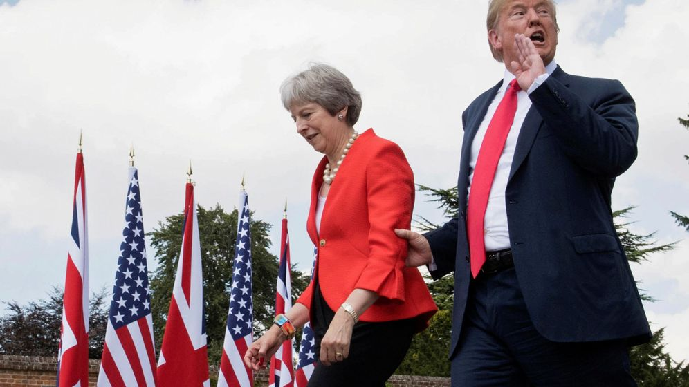Foto: El presidente de Estados Unidos, Donald Trump, y la primera ministra de Reino Unido, Theresa May. (Reuters)