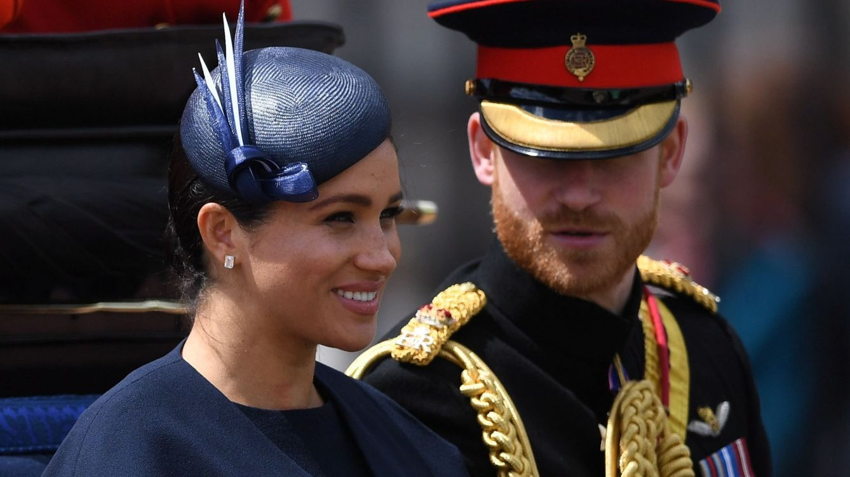 La 'regañina' viral del príncipe Harry a Meghan Markle en el Trooping the Colour