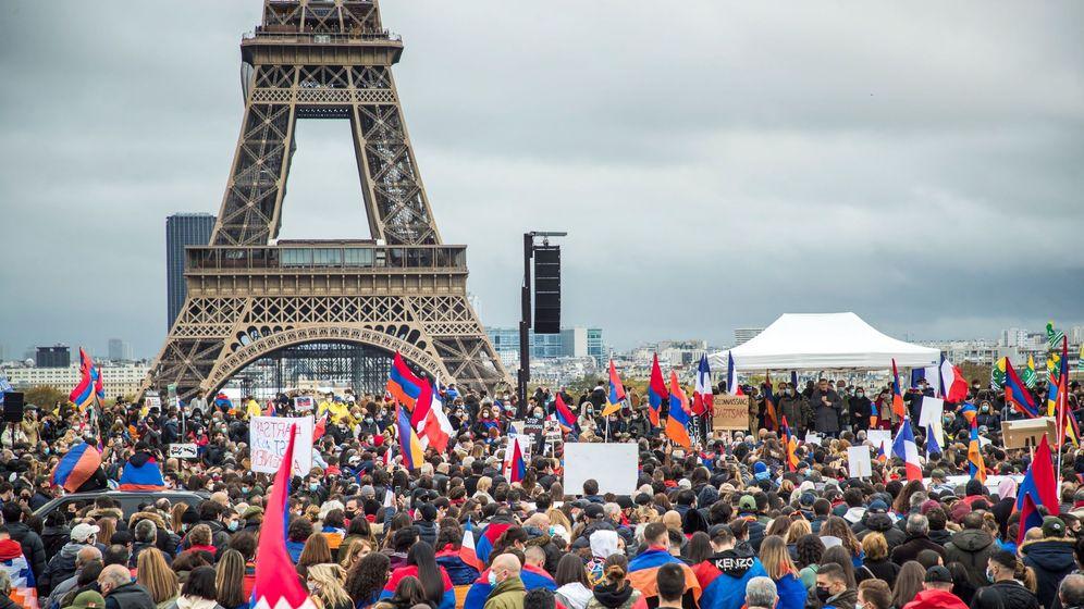 Foto: Protesta de franco-armenios en París, el pasado octubre. (EFE)