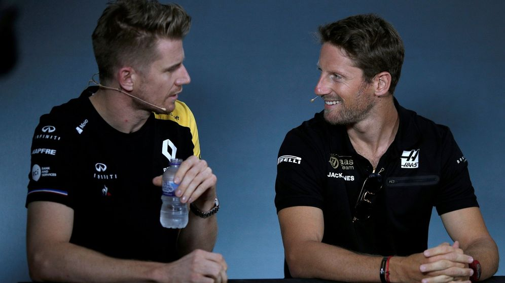 Foto: La continuidad de Grosjean deja sin asiento a Hulkenberg. (EFE)