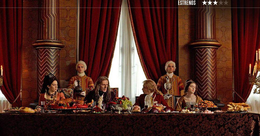 Foto: Ana Rodríguez, Lambert Wilson, Kacey Mottet Klein y Anamaria Vartolomei, en 'Cambio de reinas'. (Surtsey)