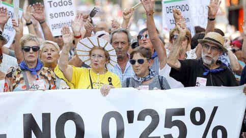Protestas de prensionistas en Bilbao